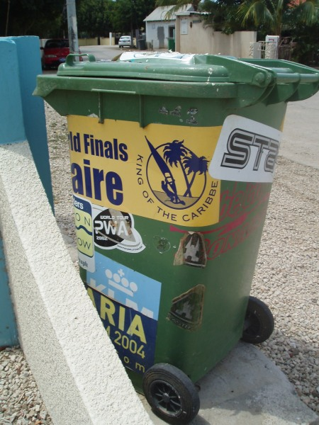 Windsurf Stickers Even On Trash Cans
