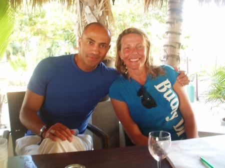 Karol Meyer and Patrick Musimu in Bonaire