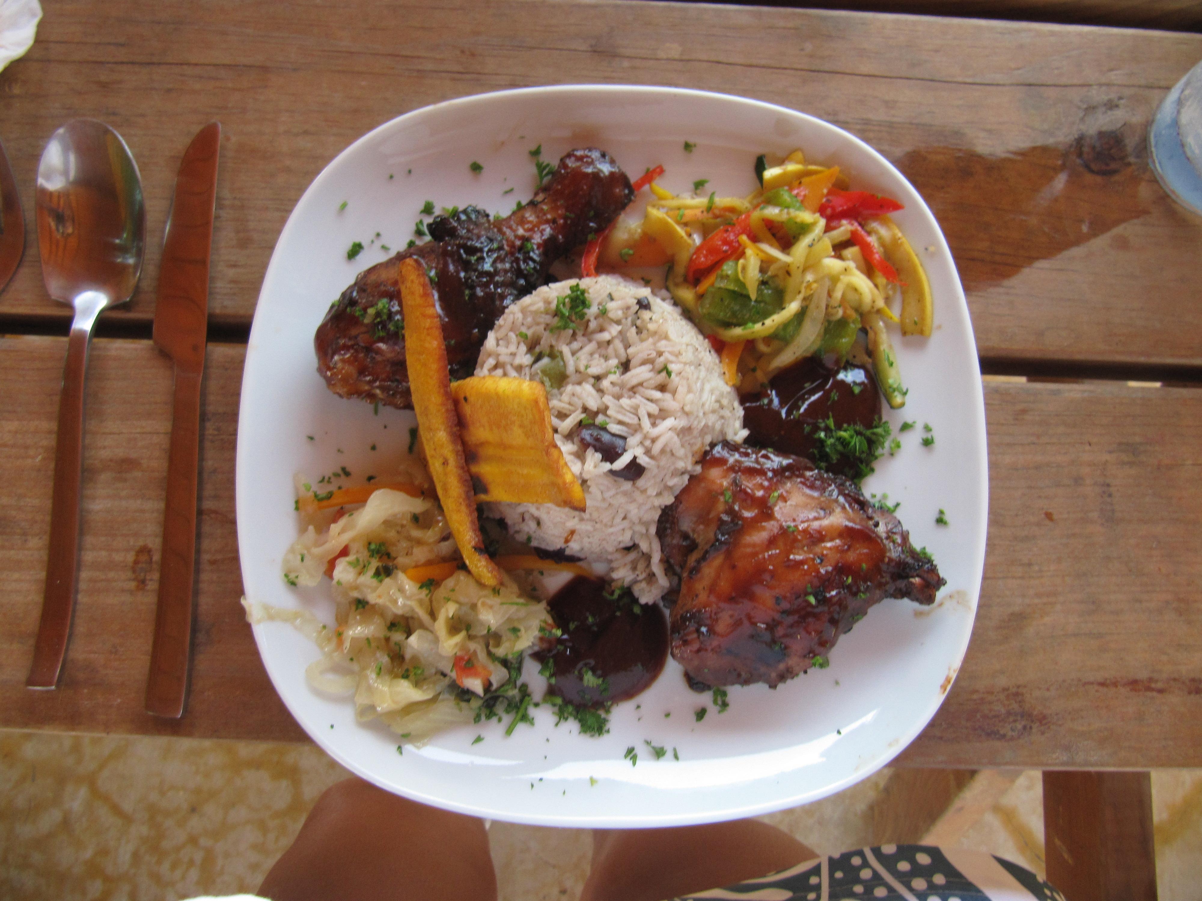 Jamaican sunday bbq at kishikishi bonaire bliss jerk chicken delight forumfinder Gallery
